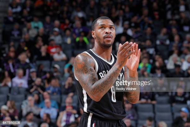 Sean Kilpatrick of the Brooklyn Nets looks on during the game against the Sacramento Kings on March 1 2017 at Golden 1 Center in Sacramento...