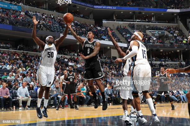 Sean Kilpatrick of the Brooklyn Nets shoots a lay up during the game against the Memphis Grizzlies on March 6 2017 at FedExForum in Memphis Tennessee...