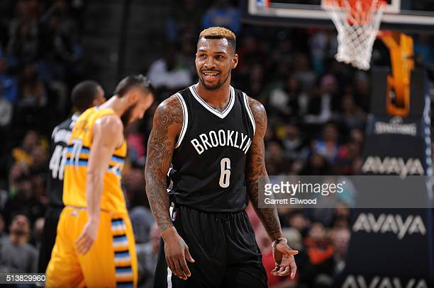 Sean Kilpatrick of the Brooklyn Nets stands on the court during the game against the Denver Nuggets on March 4 2016 at the Pepsi Center in Denver...