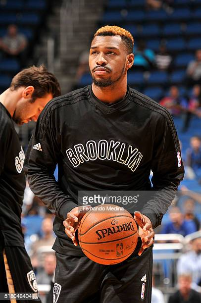 Sean Kilpatrick of the Brooklyn Nets warms up before the game against the Orlando Magic on March 29 2016 at Amway Center in Orlando Florida NOTE TO...