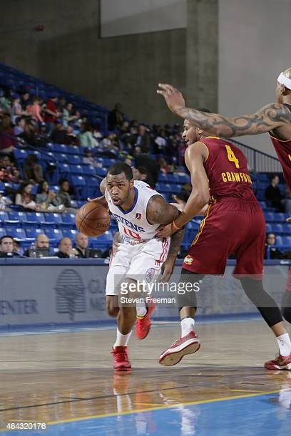 Sean Kilpatrick of the Delaware 87ers drives against Chris Crawford of the Canton Charge at the University of Delaware Bob Carpenter Center on...