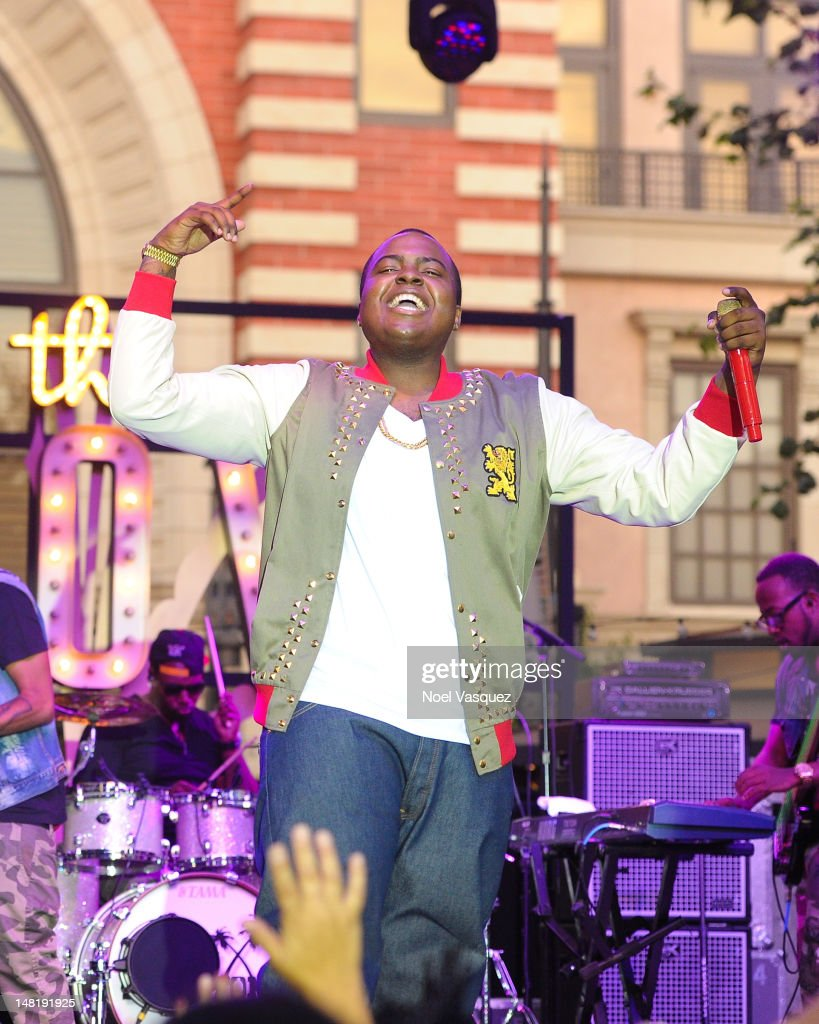 Sean Kingston performs at The Grove on July 11 2012 in Los Angeles California