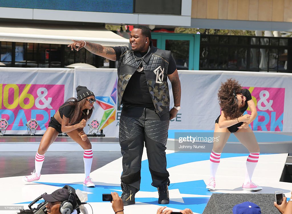 Sean Kingston performs on 106 Park Live Broadcast at Nokia Plaza LA LIVE on June 29 2013 in Los Angeles California