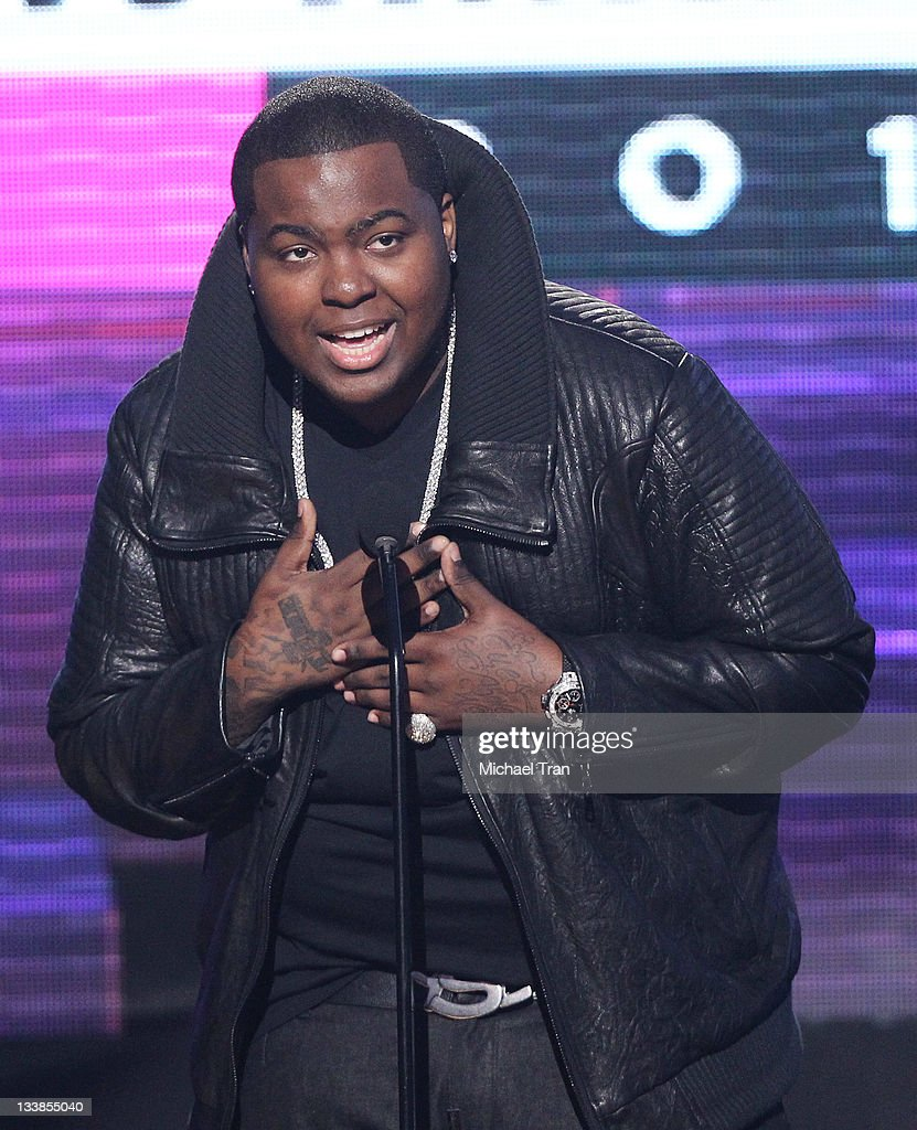 Sean Kingston speaks onstage at the 2011 American Music Awards held at Nokia Theatre LA Live on November 20 2011 in Los Angeles California
