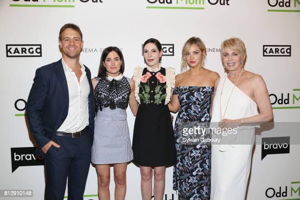 Sean Kleier KK Glick Jill Kargman Abby Elliott and Joanna Cassidy attend The Cinema Society Kargo host the Season 3 Premiere of Bravo's 'Odd Mom Out'...