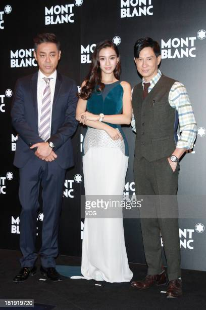 Sean Lau Anglebaby and Nick Cheung attend commercial event of Mont Blanc on September 26 2013 in Hong Kong China