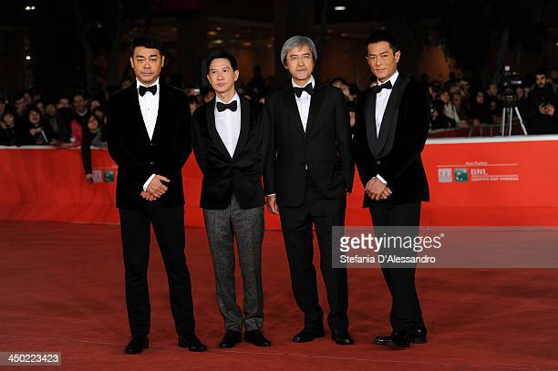 Sean Lau Nick Cheung Benny Chan and Louis Koo attend the 'Sou Duk' Premiere during The 8th Rome Film Festival on November 17 2013 in Rome Italy