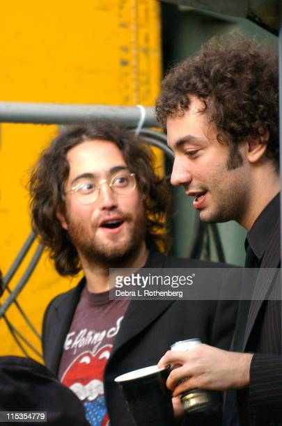 Sean Lennon and Albert Hammond Jr of The Strokes during Central Park SummerStage 2004 Sean Lennon at Central Park Summer Stage in New York City New...