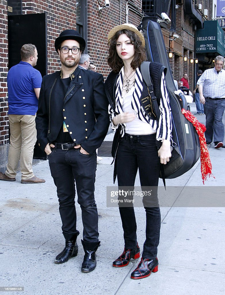 <a gi-track='captionPersonalityLinkClicked' href=/galleries/search?phrase=Sean+Lennon&family=editorial&specificpeople=206368 ng-click='$event.stopPropagation()'>Sean Lennon</a> and <a gi-track='captionPersonalityLinkClicked' href=/galleries/search?phrase=Charlotte+Kemp+Muhl&family=editorial&specificpeople=5516602 ng-click='$event.stopPropagation()'>Charlotte Kemp Muhl</a> arrive for the 'Late Show with David Letterman' at Ed Sullivan Theater on October 2, 2013 in New York City.