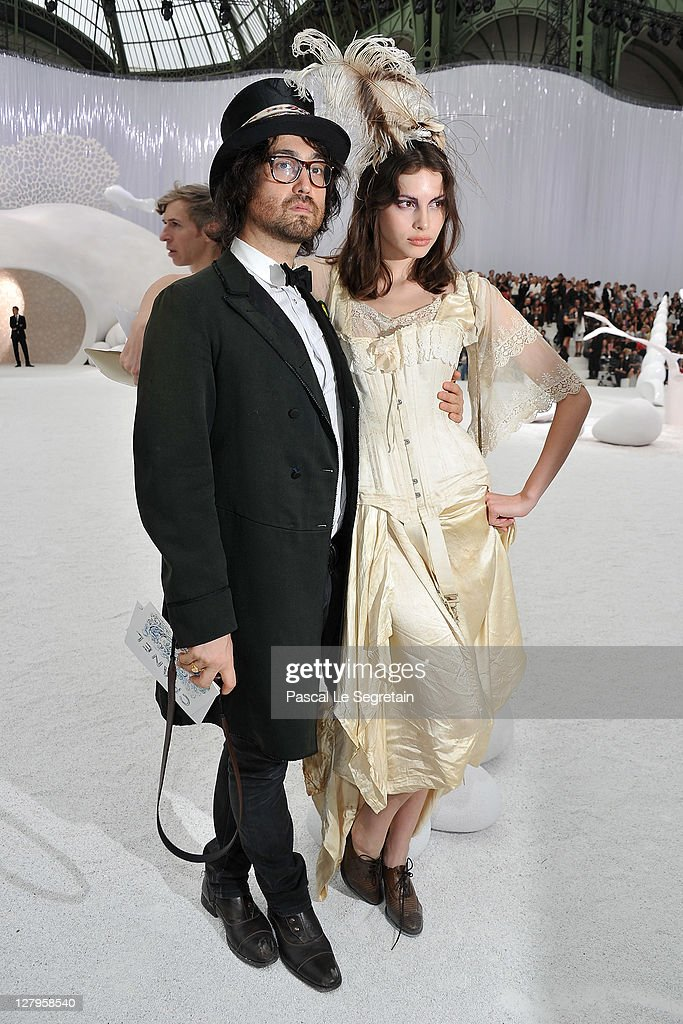 <a gi-track='captionPersonalityLinkClicked' href=/galleries/search?phrase=Sean+Lennon&family=editorial&specificpeople=206368 ng-click='$event.stopPropagation()'>Sean Lennon</a> and <a gi-track='captionPersonalityLinkClicked' href=/galleries/search?phrase=Charlotte+Kemp+Muhl&family=editorial&specificpeople=5516602 ng-click='$event.stopPropagation()'>Charlotte Kemp Muhl</a> attend the Chanel Ready to Wear Spring / Summer 2012 show during Paris Fashion Week at Grand Palais on October 4, 2011 in Paris, France.