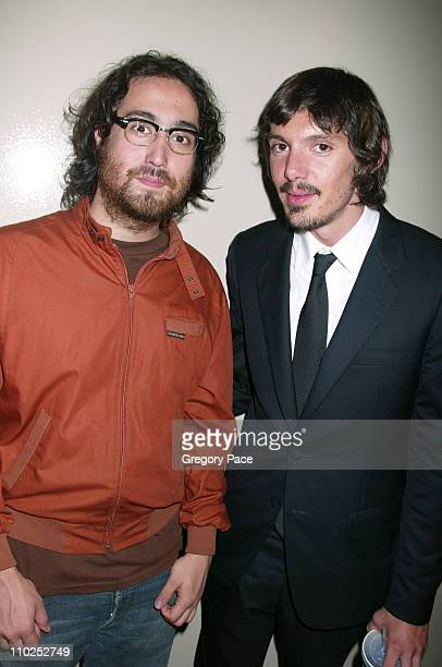 Sean Lennon and Lukas Haas during 'Last Days' New York City Premiere Inside Arrivals at The Sunshine Theatre in New York City New York United States