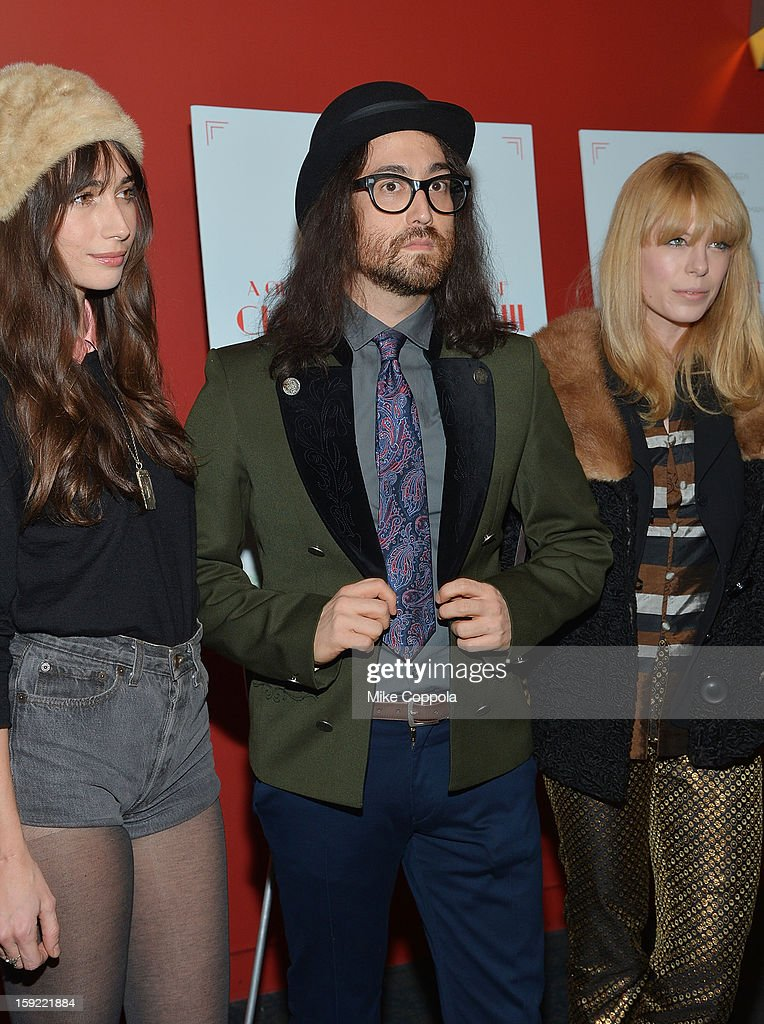 Sean Lennon (C) attends a screening of 'A Glimpse Inside The Mind Of Charles Swan III' at Landmark Sunshine Cinema on January 9, 2013 in New York City.