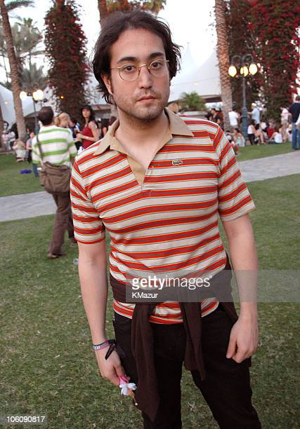 Sean Lennon during 2006 Coachella Valley Music and Arts Festival Day One Sightings at Empire Polo Field in Indio California United States