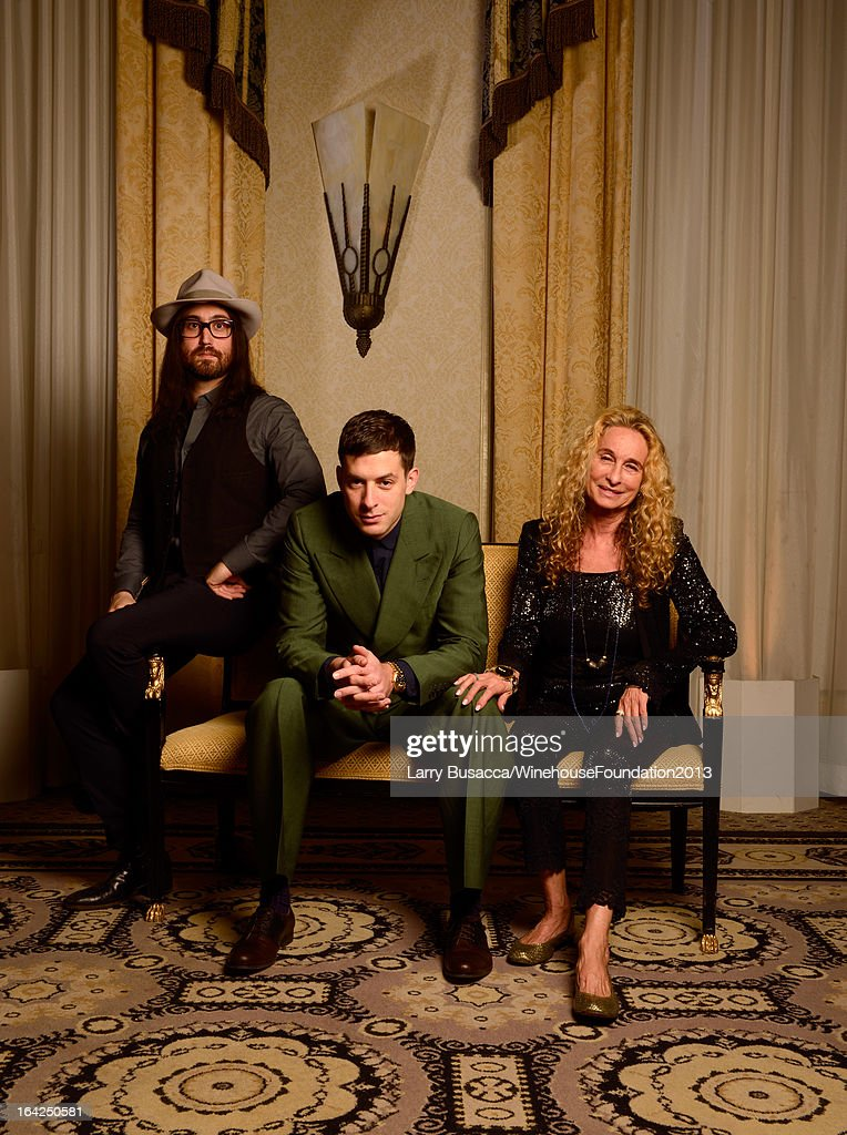 Sean Lennon, Mark Ronson, and Ann Dexter-Jones pose for a portrait during the 2013 Amy Winehouse Foundation Inspiration Awards and Gala at The Waldorf=Astoria on March 21, 2013 in New York City.