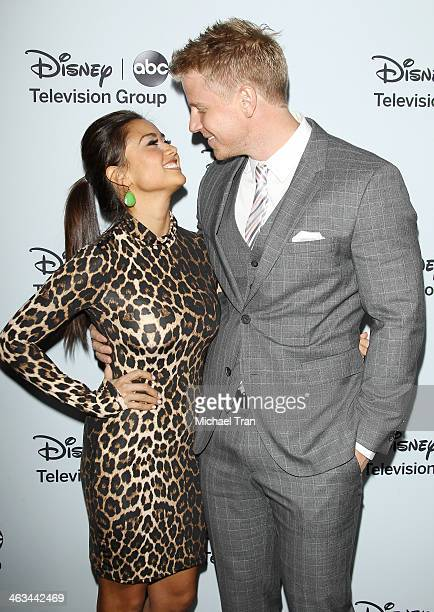Sean Lowe and Catherine Giudici arrive at the ABC/Disney 2014 Winter TCA party held at The Langham Huntington Hotel and Spa on January 17 2014 in...