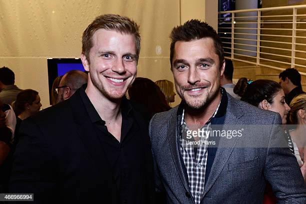 Sean Lowe and Chris Soules attend WE Tv Presents The Evolution of Relationship Reality Shows at The Paley Center For Media on March 19 2015 in...