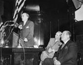 Sean MacBride Foreign Minister of Ireland Mayor William O'Dwyer and Grover Whalen at City Hall