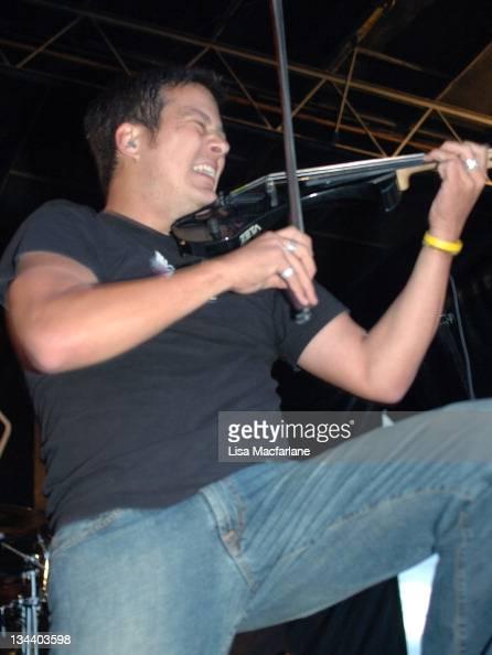 Sean Mackin of Yellowcard during 2004 Vans Warped Tour Randall's Island at Randall's Island in New York City New York United States