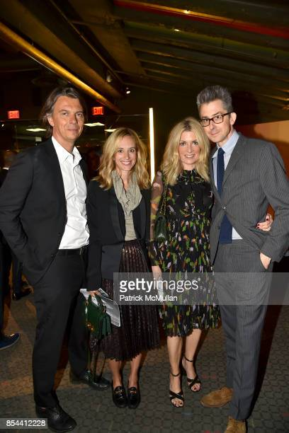 Sean MacPherson Rachelle Hruska Brooke Cundiff and Michael Hainey attend the Glenn O'Brien Memorial Celebration at SVA Theatre on September 10 2017...