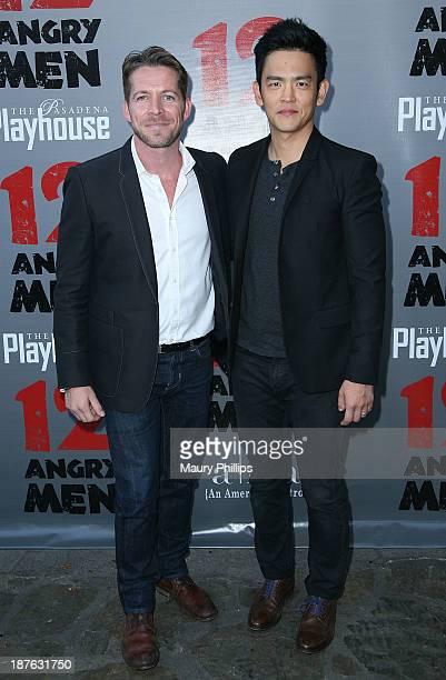 Sean Maguire and John Cho attend '12 Angry Men' at the Pasadena Playhouse on November 10 2013 in Pasadena California