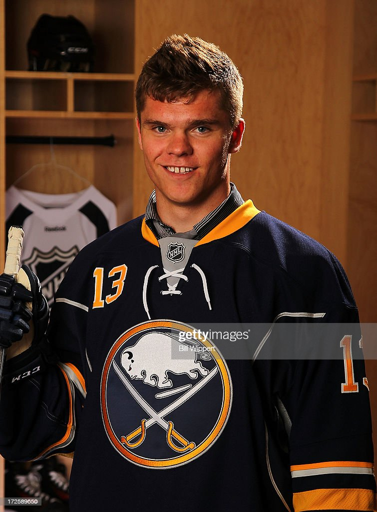 Sean Malone, 159th pick overall by the Buffalo Sabres, poses for a portrait during the 2013 NHL Draft at Prudential Center on June 30, 2013 in Newark, New Jersey.