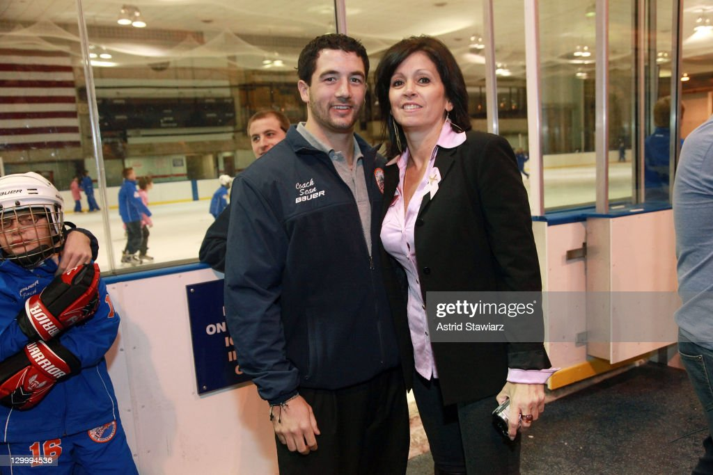 Sean McAllister and Lisa Davie attend the 2011 Breast Cancer Skate-a-Thon at the Abe Stark Arena on October 22, 2011 in New York City.