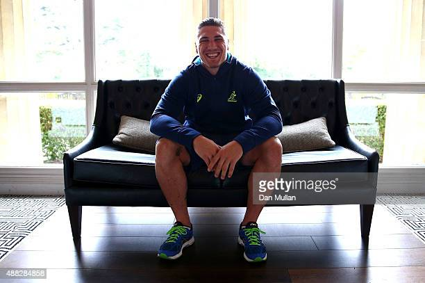 Sean McMahon of Australia poses for a portrait during an Australia media session at the MacDonald Bath Spa Hotel on September 15 2015 in Bath United...