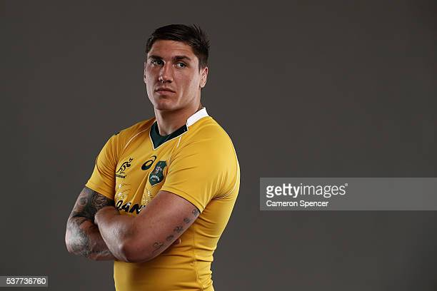 Sean McMahon of the Wallabies poses during an Australian Wallabies portrait session on May 30 2016 in Sunshine Coast Australia