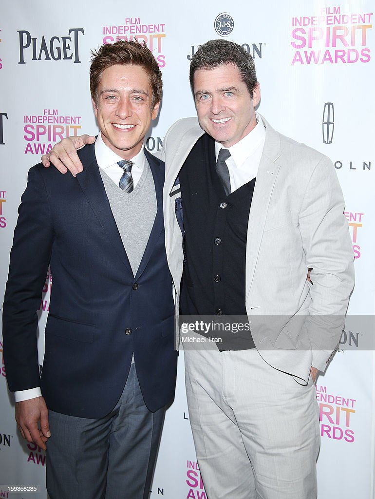 Sean McManus (L) and Josh Welsh arrive at the 2013 Film Independent Filmmaker Grant And Spirit Award nominees brunch held at BOA Steakhouse on January 12, 2013 in West Hollywood, California.