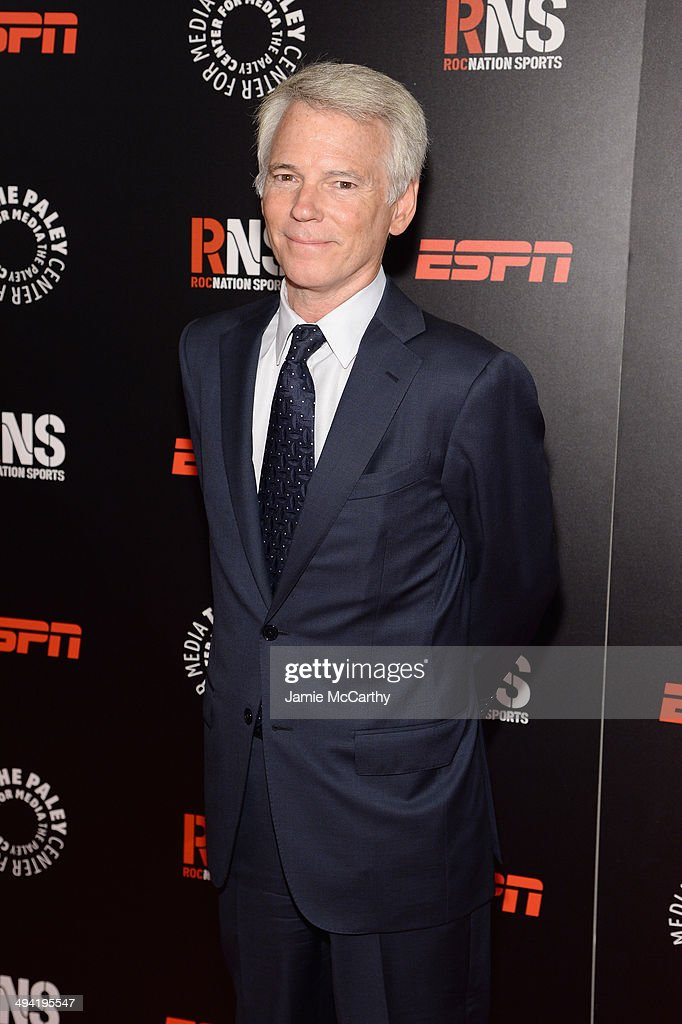 Sean Mcmanus Chairman CBS Sports attends the Paley Prize Gala honoring ESPN's 35th anniversary presented by Roc Nation Sports on May 28 2014 in New...
