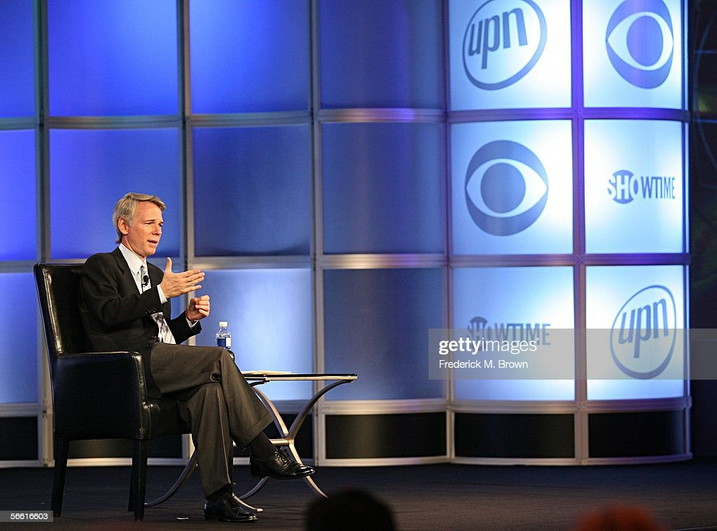 Sean McManus President of CBS News and Sports speaks during the CBS executive question and answer segment of the Television Critics Association press...