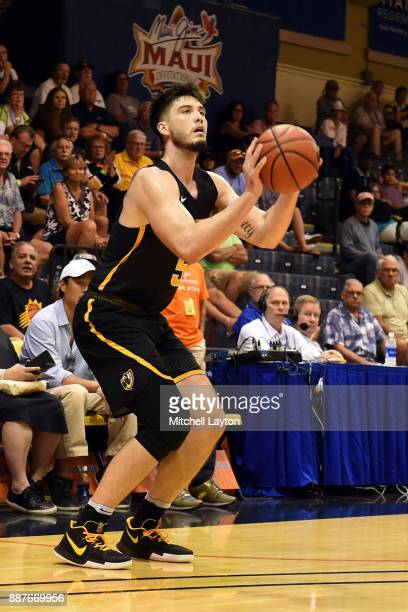 Sean Mobley of the Virginia Commonwealth Rams takes a jump shot during a consolation college basketball game at the Maui Invitational against the...