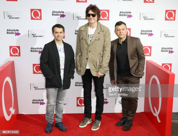 Sean Moore Nicky Wire and James Dean Bradfield from the Manic Street Preachers attend the Q Awards 2017 in association with Absolute Radio held at...