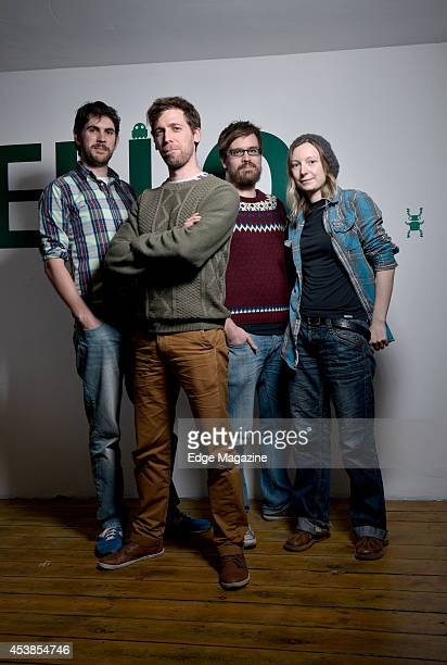 Sean Murray Grant Duncan David Ream and Hazel McKendrick of English video games developer Hello Games photographed at their studio in Guildford on...