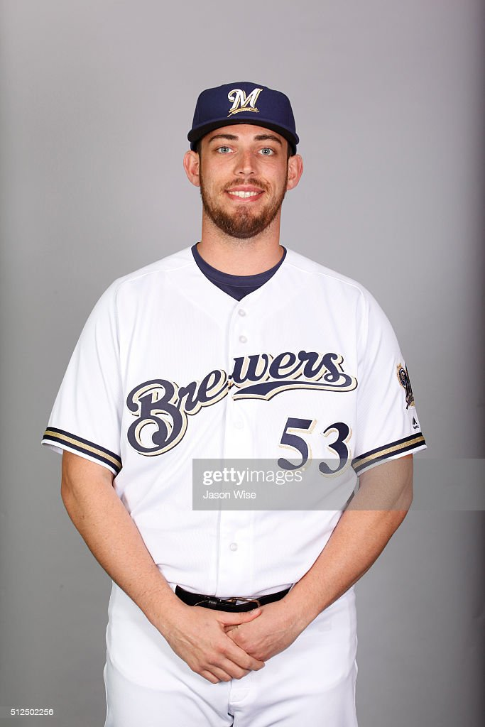 Sean Nolin of the Milwaukee Brewers poses during Photo Day on Friday February 26 2016 at Maryvale Baseball Park in Phoenix Arizona