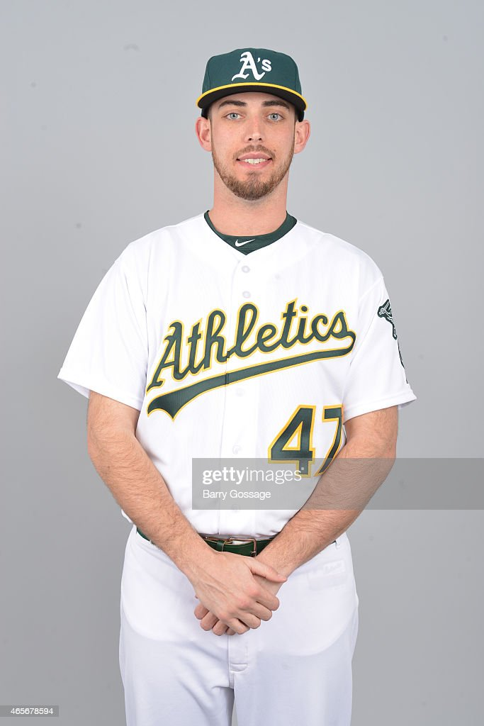 Sean Nolin of the Oakland Athletics poses during Photo Day on Saturday February 28 2015 at Phoenix Municipal Stadium in Phoenix Arizona