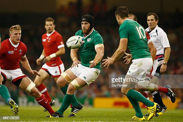 Sean O' Brien of Ireland in action during the 2015 Rugby World Cup Pool D match between Ireland and Canada at Millennium Stadium on September 19 2015...