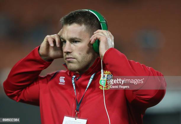 Sean O'Brien of the Lions looks on prior to the the match between the Chiefs and the British Irish Lions at Waikato Stadium on June 20 2017 in...