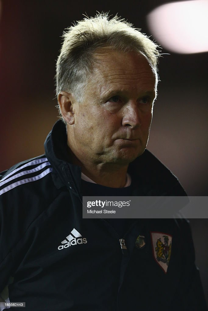 Sean O'Driscoll the manager of Bristol City heads towards the dressing room during the Sky Bet League One match between Bristol City and Brentford at Ashton Gate on October 22, 2013 in Bristol, England.