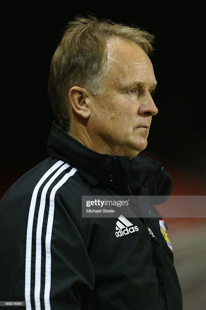 Sean O'Driscoll the manager of Bristol City looks on from the touchline during the Sky Bet League One match between Bristol City and Brentford at Ashton Gate on October 22, 2013 in Bristol, England.