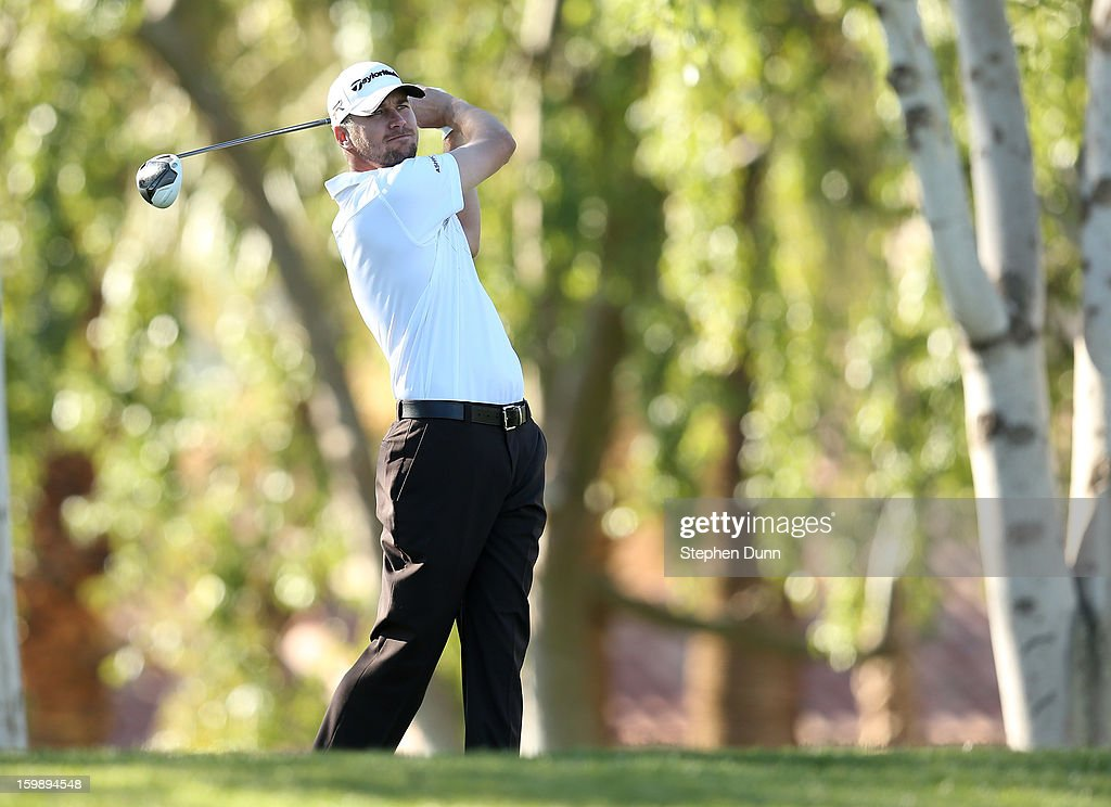 <a gi-track='captionPersonalityLinkClicked' href=/galleries/search?phrase=Sean+O%27Hair&family=editorial&specificpeople=241247 ng-click='$event.stopPropagation()'>Sean O'Hair</a> hits his tee shot on the second hole during the third round of the Humana Challenge In Partnership With The Clinton Foundation on the Palmer Private Course at PGA West on January 19, 2013 in La Quinta, California.