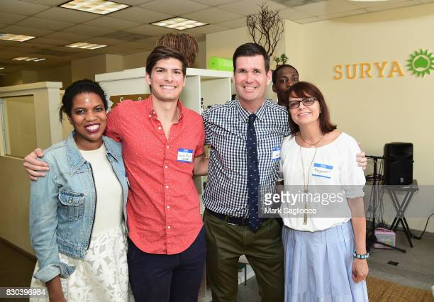Sean O'Hara and Margaret Kwiatkowski and team attend as Surya Brasil celebrates 20th anniversary in the United States on August 11 2017 in New Hyde...