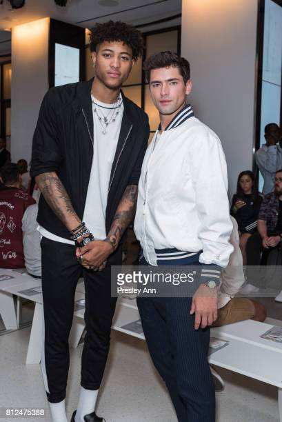 Sean O'Pry and Kelly Oubre Jr attend Todd Snyder Front Row/Backstage NYFW Men's July 2017 at Cadillac House on July 10 2017 in New York City