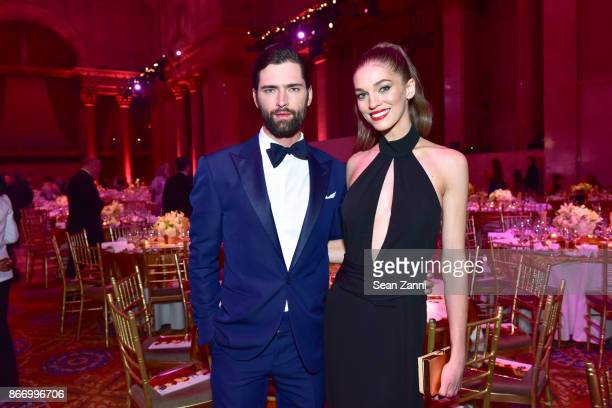 Sean O'Pry and Samantha Gradoville attend the Fashion Group International's 34th Annual Night of Stars Gala at Cipriani Wall Street on October 26...