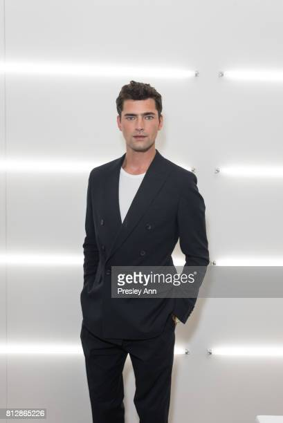 Sean O'Pry attends the BOSS show during NYFW Men's July 2017 at Fulton Market Building on July 11 2017 in New York City