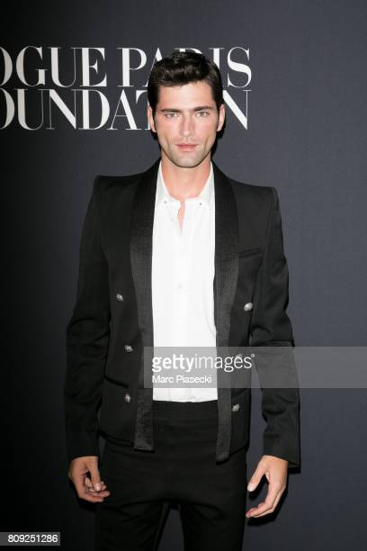 Sean O'Pry attends Vogue Foundation Dinner during Paris Fashion Week as part of Haute Couture Fall/Winter 20172018 at Musee Galliera on July 4 2017...