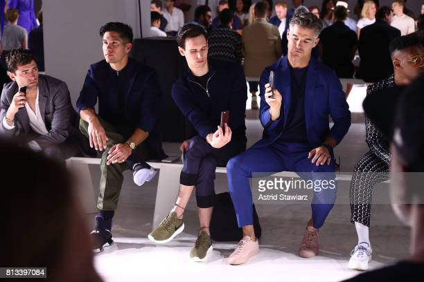 Sean O'Pry Chyno Miranda Cory Michael Smith and Eric Rutherford attend the EFM Engineered For Motion Spring/Summer 2018 Runway Show at Skylight...