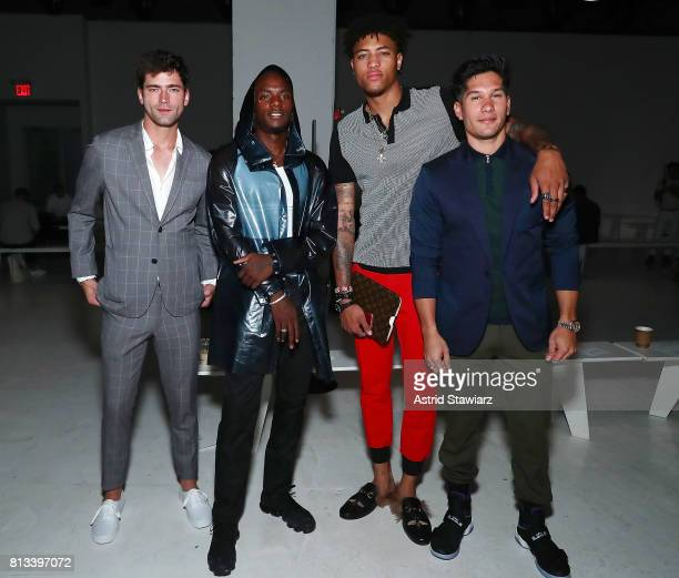 ÊSean O'Pry Young Paris KellyÊOubre and Chyno Miranda attend the EFM Engineered For Motion Spring/Summer 2018 Runway Show at Skylight Clarkson Square...
