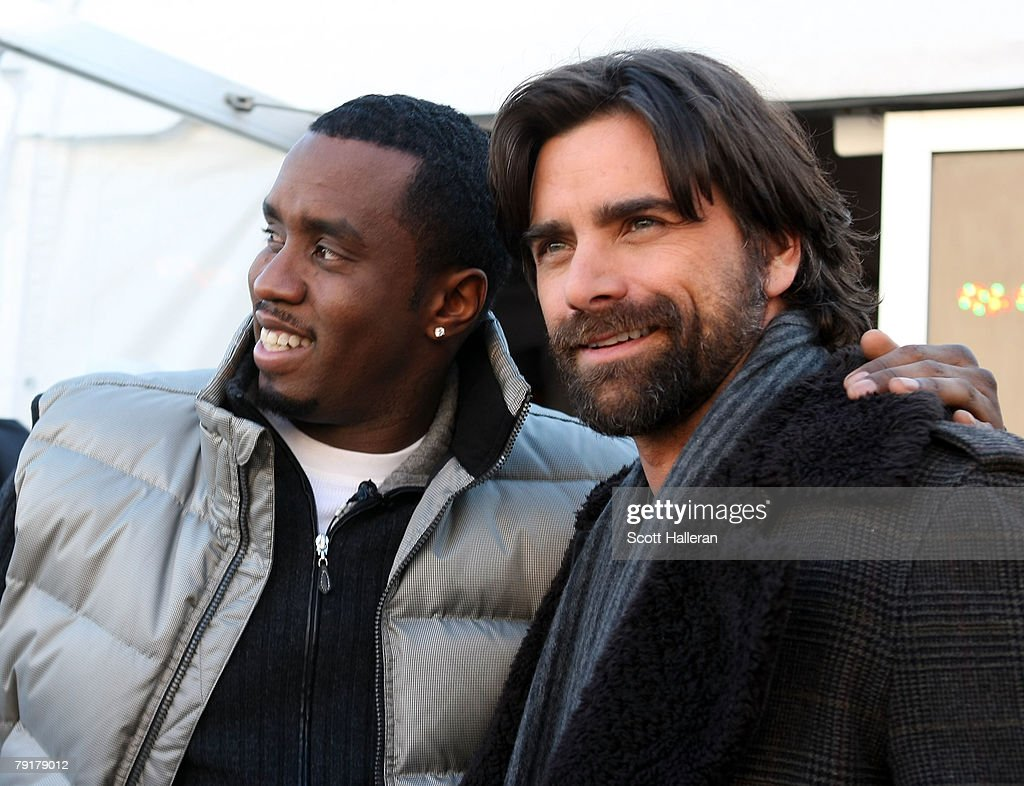 Sean 'P Diddy' Combs (L) and actor John Stamos poses during the 2008 Sundance Film Festival on January 23, 2008 in Park City, Utah.