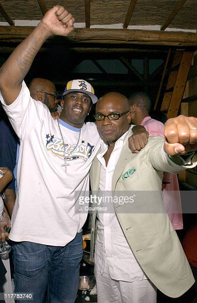 Sean 'P Diddy' Combs and Antonio 'LA' Reid during LA Reid Birthday Celebration Inside at Cipriani's in New York City New York United States